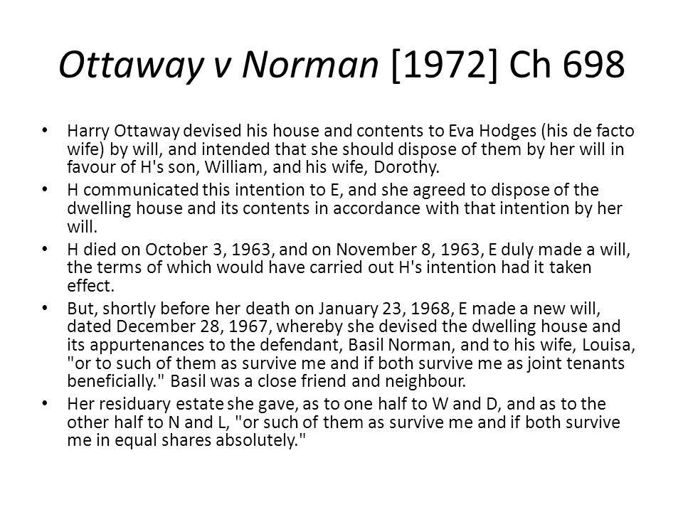 Ottaway v Norman [1972] Ch 698
